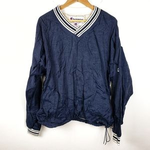 Vintage Champion | Navy Blue Pullover Windbreaker